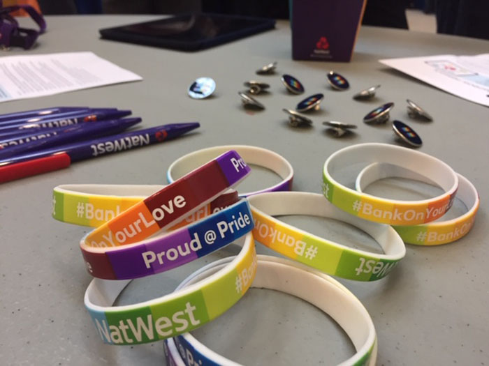 Bracelets at one of our Employee Led Network events